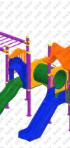 Metal Polyethylene Playgrounds
