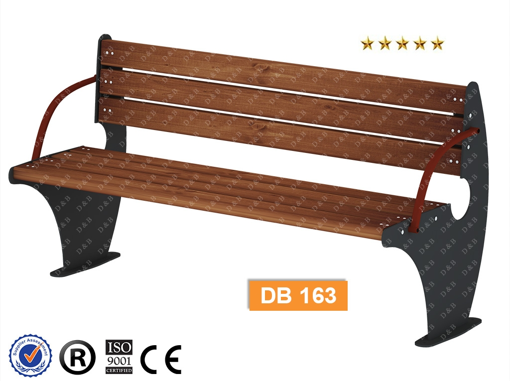 Db 163 Sitting Benches Outdoor Trash Can Park Bench