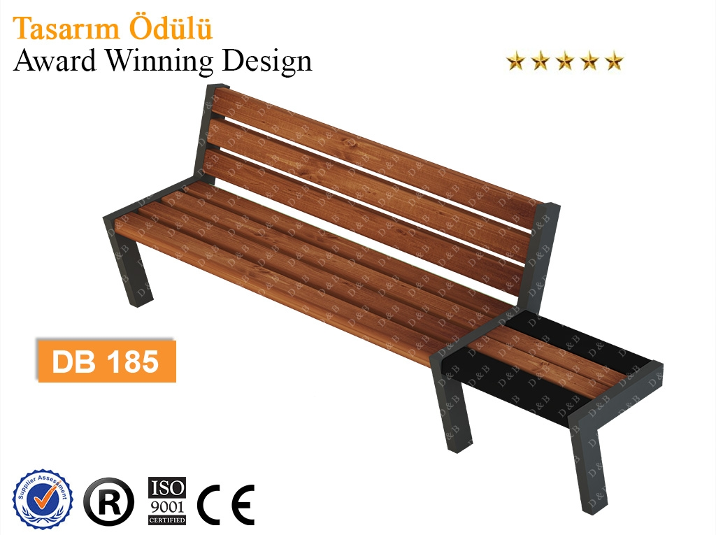 Db 185 Sitting Benches Outdoor Trash Can Park Bench